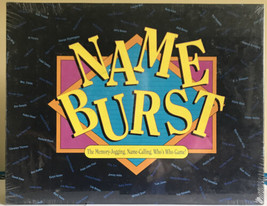 NEW Name Burst Game 1992 Memory Jogging, Name calling, Who's Who - $15.19