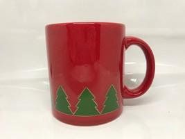 Waechtersbach Pine Tree Mug, Red & Green Christmas Germany - $9.89