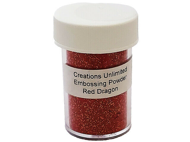 Creations Unlimited Sparkling Embossing Powder, Red Dragon