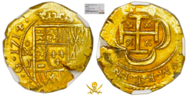 "MEXICO 1714 2 ESCUDOS NGC 64 ""1715 FLEET"" SHIPWRECK DOUBLOON GOLD TREASU... - $12,900.00"