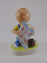 Joan Berg Victor Figurine You Are My Friend boy with teddy and blanket - $19.99