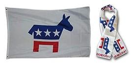 ALBATROS Set Democrat Democratic 3 ft x 5 ft 3x5 Flag and 8ftx60ft Scarf... - $31.09