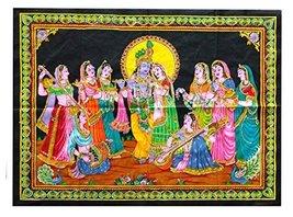 "Rastogi Handicrafts Radha Krishna God 40"" X 30"" Poster Size Tapestry Dec... - $7.91"