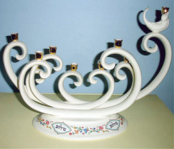 L'Chaim Menorah Candle Holder Lenox Judaica Collection New In Box - $349.00