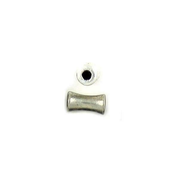 CURVED TUBE FINE PEWTER BEAD - 9.5x5x5mm Hole 2mm