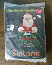 Sultana Needlecraft Santa Jeweled Christmas Mail Bag Felt Applique Kit N... - $9.50