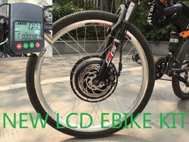48V 1000W F ELECTRIC Bicycle Kits Conversion Motor DISC LCD PAS EBIKE BY... - $326.59