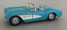 Burago 1957 Chevrolet Corvette 1:24 Diecast Car Turquoise Convertible Italy - $22.00