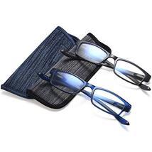 Reading Glasses Neck Hanging Readers - 2 Pairs Blue Light Blocking Computer Eyeg image 2