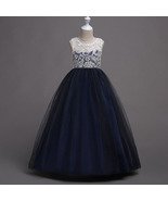 Flared Full Length Navy Blue Color Party Gown for Girls - $48.99+