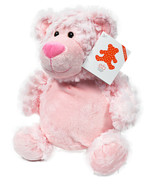 Brodeur Buddy Bobby Ours Rose 16 Pouces Broderie Peluche Animal - $31.11