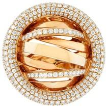 NEW GLK 18K ROSE GOLD 2.50CT DIAMOND GALAXY RING SIZE 7 - £4,688.60 GBP