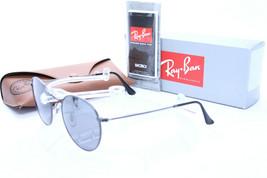 Ray Ban Sun Round Metal RB 3447 029/K3 Gunmetal w/Grey Mirror Silver Pol... - $284.15