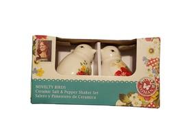 Pioneer Woman Birds Salt Pepper Shakers Set FALL 2017 NEW Novelty Ceramic - £10.93 GBP