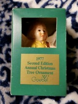 Goebel Annual Christmas Tree Yellow Angel Bell Ornament W/ Lute 1977 2nd Edition - $17.99