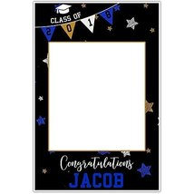 Class of 2018 Stars and Stripes Graduation Selfie Frame Party Photo Prop... - $305,77 MXN
