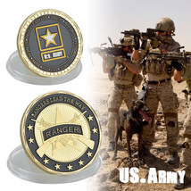 WR U.S. Army Ranger Gold Plated Challenge Coin Rangers Lead The Way Souvenir - $3.49