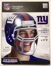 NIB NY Giants NFL Fanheads Adjustable Sz Helmet Jakks Tailgating Party Football - $11.87