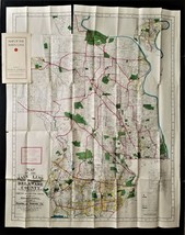 antique MAIN LINE and EASTERN DELAWARE COUNTY large MAP franklin survey - $68.95