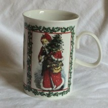 Dunoon Victorian Santa Merry Christmas Mug Cup Stoneware Made in Scotlan... - $9.49