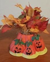Halloween Jackal-Lanter Decorations Green Orange Table Top Decor Fall Autum - $19.79