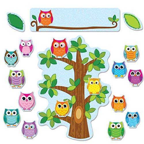 Carson Dellosa Colorful Owls Behavior Bulletin Board Set 110226