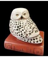 Artesania Rinconada Snowy Owl On Book LE Lg Wildlife Gallery FREE SHIP U... - $245.00