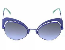 Authentic FENDI Eyeshine Blue Gradient Cat Eye Ladies Sunglasses FF 0247/S - NEW - $257.40