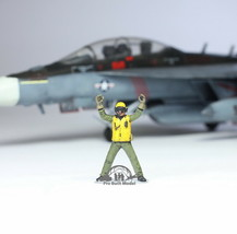 US Navy Yellow Deck crew 1:72 Pro Built Model #1 - $14.83