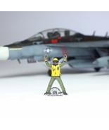 US Navy Yellow Deck crew 1:72 Pro Built Model #1 - $14.83