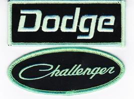 Dodge Challenger Black Green SEW/IRON On Patch Embroidered Hemi Mopar Car - $8.50