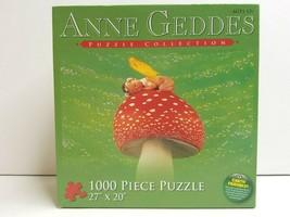 Anne Geddes Sleepy Baby Mushroom Photograph 1000 Piece Jigsaw Puzzle SEA... - $22.76