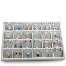 Oirlv Velvet Jewelry Tray 24 Grid Liner Pendant Earrings Organizer Stora... - $34.13
