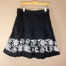 Ann Taylor Cotton Skirt For Women Black and White Embroidered Size 6 - $20.90