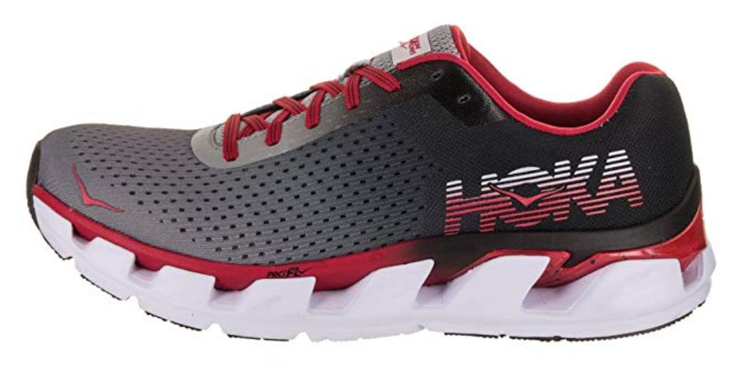 Hoka One One Elevon Size 9 M (D) EU 42 2/3 Men's Running Shoes Black Red 1019267