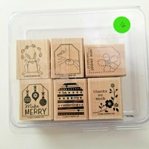 Stampin Up Tags So Much Stamp Set EUC 6 Stamps - $12.90