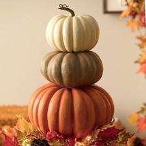 Indoor Outdoor Faux Pumpkin Stacker Stack of Pumpkins Fall Harvest Autum... - $1.866,09 MXN