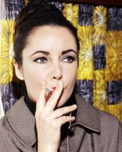 Elizabeth Taylor 8x10 Photo rare 1960's pose smoking cigarette - $7.99