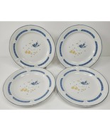 """4 Vintage Home Style Country Goose Geese Stoneware China 7.5"""" Plates - $27.97"""
