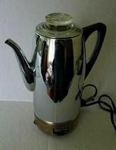 WESTINGHOUSE Super-Matic Percolator LaBelle Silver Co.Chrome Copper Vint... - $39.60
