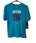 "NWT Nike Jordan Boy's Charlotte Hornets T-Shirt. ""In It For Buzz City"" S... - $24.24"