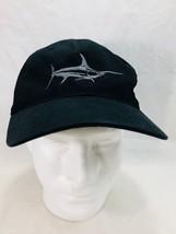 Marlin Fishing Baseball Hat Cap Black Flexfit Large Xlarge Embroidered  - $19.79