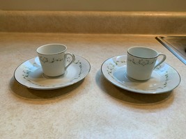 Sheffield Fine China Elegance Pattern Demitasse/Expresso Cup and Saucer ... - $19.79