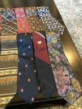 Tommy Hilfiger,Van Heusen and more lot of 18 Assorted Silk Neckties Multi-Color  image 5