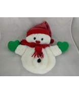 "Hallmark Snowman Stocking Sack Christmas Plush 12"" 1985 Stuffed Animal Toy - $17.95"