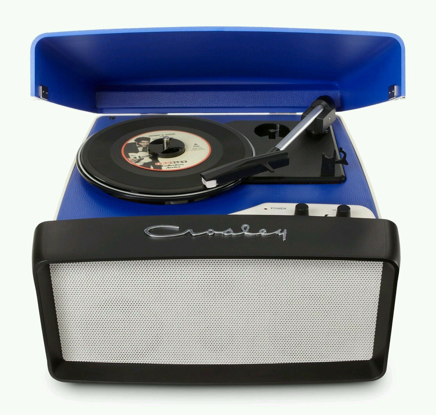 New old style Crosley Collegiate BLUE 3 Speed turntable record player  Fast Ship
