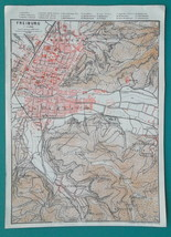 "1925 BAEDEKER MAP - GERMANY Freiburg City Plan 6 x 8.5"" (10 x 21 cm) Gen... - $13.05"