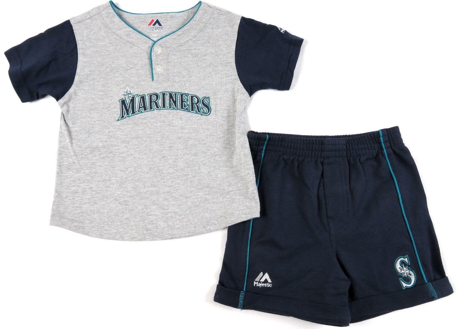 Seattle Mariners Infant Shorts Set MLB Batting Practice 2-Piece Jersey Boy's