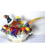 Vintage Fitz & Floyd Pheasant Venezia Soup Tureen Ladle Bold Autumn Colo... - $322.99