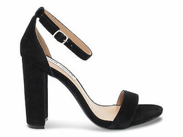 Heeled sandal Steve Madden CARRSON N in black suede leather - Women's Shoes - $131.10